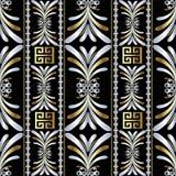 Bloemen gestreept abstract 3d naadloos patroon Het kan voor prestaties van het ontwerpwerk noodzakelijk zijn Royalty-vrije Stock Foto's