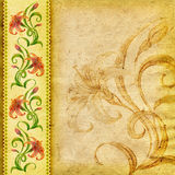 Bloemen geweven achtergrond (lelie) Royalty-vrije Stock Afbeeldingen