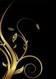 Bloemen gouden Royalty-vrije Stock Foto's
