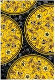 Bloemen gouden achtergrond Royalty-vrije Illustratie