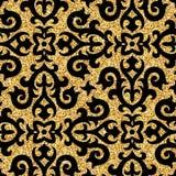 Bloemen gouden behang Royalty-vrije Stock Foto