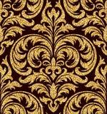 Bloemen gouden behang Stock Foto's