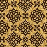 Bloemen gouden behang Stock Afbeeldingen