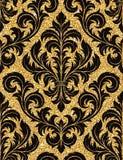 Bloemen gouden behang Royalty-vrije Stock Fotografie