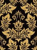 Bloemen gouden behang Royalty-vrije Stock Afbeeldingen