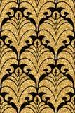 Bloemen gouden behang Royalty-vrije Stock Afbeelding