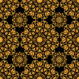 Bloemen gouden decoratief patroon Stock Foto's