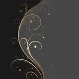 Bloemen gouden golf vector illustratie