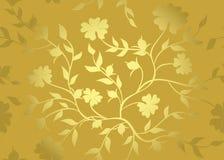 Bloemen gouden patroon Stock Foto's