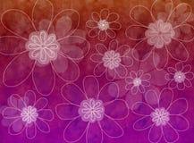 Bloemen Grafisch Royalty-vrije Stock Afbeeldingen