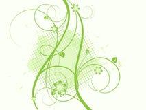 Bloemen grangy abstracte vector Royalty-vrije Stock Fotografie