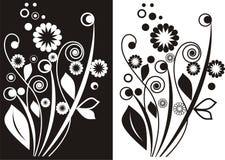 Bloemen gravure Stock Foto's