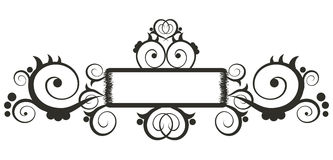Bloemen grens Royalty-vrije Stock Foto's