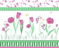 Bloemen grens Stock Foto