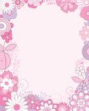 Bloemen grens Stock Afbeeldingen