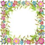 Bloemen Grens Als achtergrond Royalty-vrije Stock Foto's