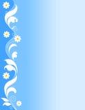 Bloemen grens - blauw Stock Foto