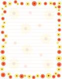 Bloemen grens/frame Royalty-vrije Stock Afbeelding