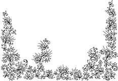 Bloemen grens II stock illustratie