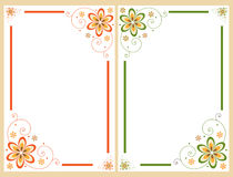 Bloemen grensframe reeks Royalty-vrije Stock Foto's