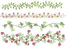 Bloemen grenzen vector illustratie