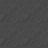 Bloemen grijs patroon Stock Afbeeldingen