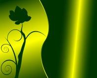 Bloemen groen ontwerp royalty-vrije illustratie