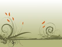 Bloemen groen ontwerp Royalty-vrije Stock Foto