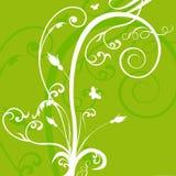 Bloemen groene abstracte achtergrond royalty-vrije illustratie
