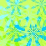 Bloemen groene de zomerachtergrond - Royalty-vrije Stock Afbeeldingen
