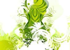 Bloemen Groene Elementen Stock Afbeeldingen