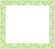 Bloemen Groene Grens Royalty-vrije Stock Afbeeldingen
