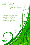 Bloemen Groene Kaart Stock Illustratie