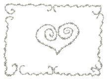Bloemen groetkaart stock illustratie
