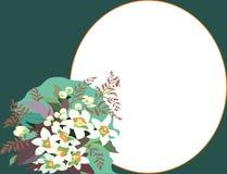 Bloemen groetkaart Stock Foto