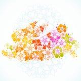 Bloemen groetkaart van Pasen. Konijn Stock Foto's