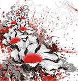 Bloemen grunge vector bloedige achtergrond vector illustratie