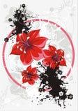 Bloemen grunge vectorachtergrond Royalty-vrije Stock Foto's
