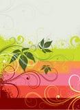 Bloemen grungeachtergrond vector illustratie