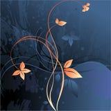Bloemen grungeachtergrond Royalty-vrije Stock Afbeelding