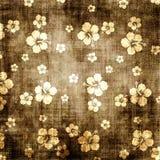 Bloemen grungeachtergrond Stock Foto's