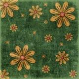 Bloemen grungeachtergrond Royalty-vrije Stock Foto