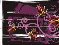 Bloemen grungeachtergrond Royalty-vrije Stock Foto's