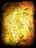 Bloemen grungeachtergrond Stock Afbeelding