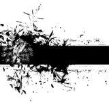 Bloemen grungebanner Royalty-vrije Stock Afbeeldingen