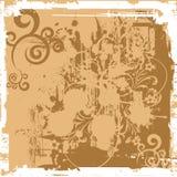 Bloemen grungebanner (vector) Royalty-vrije Stock Afbeeldingen