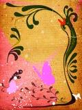 Bloemen grungeontwerp Royalty-vrije Stock Afbeeldingen