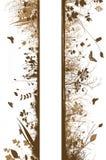 Bloemen grungeontwerp Royalty-vrije Stock Fotografie