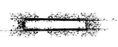 Bloemen Grungy Frame met de Vlekken van de Inkt Royalty-vrije Stock Foto's
