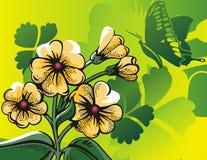 Bloemen halftone achtergrond Stock Afbeelding